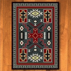 8' x 11' Double Cross Gray Southwest Rectangle Rug