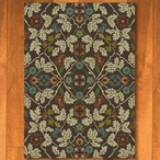 8' x 11' Infinity Oak Leaves Brown Nature Rectangle Rug