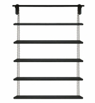 """80"""" Chain Hung Wall Unit with Five Metal Shelves"""