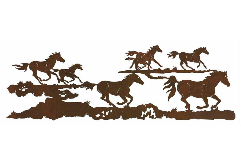84  Running Wild Horses Metal Wall Art  sc 1 st  JataShop & 84