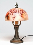 "9.5"" Grapes Glass and Metal Table Lamp"