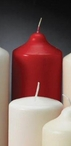 "9"" Red Unscented Pillar Candles, Set of 6"