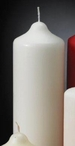 "9"" White Unscented Pillar Candles, Set of 6"