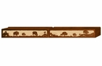 "96"" Buffalo Family Scenic Metal Window Valance"