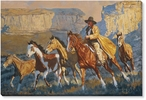 A Cowboy Day Wrapped Canvas Giclee Print Wall Art