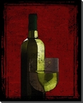 A Glass of Chardonnay Wine Wrapped Canvas Giclee Print Wall Art