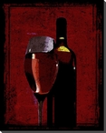 A Glass of Rose Wine Wrapped Canvas Giclee Print Wall Art