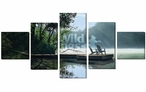 A Place to Ponder Lake Scene Wrapped Canvas Giclee Wall Art, Set of 5