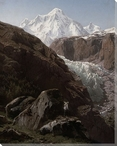A View of the Gorner Glacier and Zermatt Valley Wrapped Canvas Print