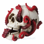Abyss Lurks Within Skull Sculpture