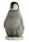 Adorable Standing Baby Penguin Sculpture
