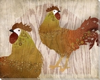 Adorned Chicken Birds 5 Wrapped Canvas Giclee Print Wall Art