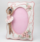 African American Ballerina Girl Porcelain Picture Frame