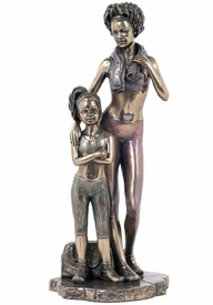 African American Mother and Daughter Dancers Sculpture