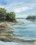 After the Rain River Scene Wrapped Canvas Giclee Print Wall Art