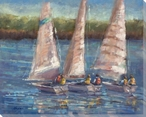 Afternoon Sail Boats Wrapped Canvas Giclee Print Wall Art