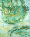 Agate Abstraction 1 Wrapped Canvas Giclee Print Wall Art