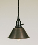 Aged Copper Tavern Hanging Pendant Lamp Light