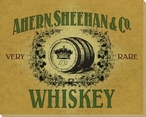 Ahern Sheehan Whiskey Wrapped Canvas Giclee Print Wall Art
