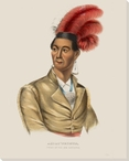 Ahyouwalghs Chief of the Six Nations Native American Canvas Art Print