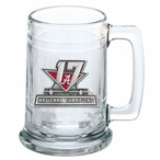 Alabama 2017 National Champions Red Glass Beer Mug with Pewter Accent