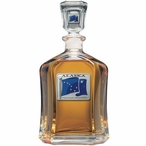 Alaska Flag Blue Capitol Glass Decanter with Pewter Accents