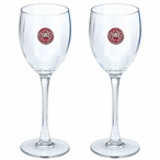 Alaska King Crab Red Pewter Accent Wine Glass Goblets, Set of 2