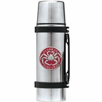 Alaskan King Crab Red Stainless Steel Thermos with Pewter Accent