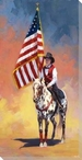 All American Rodeo Wrapped Canvas Giclee Print Wall Art