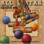 All Star Croquet Game Wrapped Canvas Giclee Print Wall Art