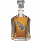 Alligator Capitol Glass Decanter with Pewter Accents
