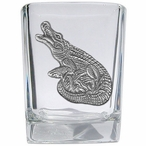 Alligator Pewter Accent Shot Glasses, Set of 4