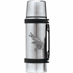 Alligator Stainless Steel Thermos with Pewter Accent