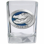 Alligator with Florida Blue Pewter Accent Shot Glasses, Set of 4