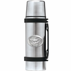 Alligator with Florida Stainless Steel Thermos with Pewter Accent