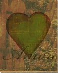 Amore Heart Wrapped Canvas Giclee Print Wall Art