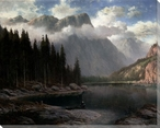 An Alpine Landscape Wrapped Canvas Giclee Print Wall Art