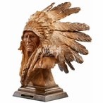An Honored Life Native American Hand Painted Sculpture