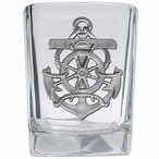 Anchor Pewter Accent Shot Glasses, Set of 4