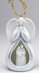 Angel and Holy Family Christmas Tree Ornaments, Set of 4