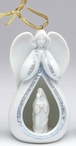 Angel and Maria with Baby Christmas Tree Ornaments, Set of 4