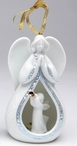 Angel and Trumpeting Angel Christmas Tree Ornaments, Set of 4