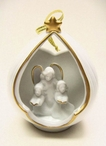 Angel Family Christmas Tree Ornaments, Set of 4