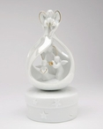 Angel Herald Porcelain Musical Music Box Sculpture