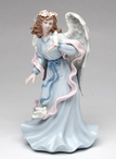 Angel Holding a Dove Bird Musical Music Box Sculpture