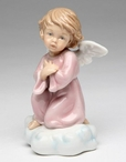 Angel Kneeling Porcelain Sculpture