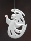 Angel of Love Christmas Tree Ornaments, Set of 4