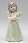 Angel of Love Porcelain Sculptures, Set of 2