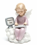 Angel on Line Porcelain Sculpture