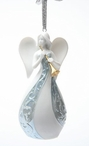 Angel with a Horn Christmas Tree Ornaments, Set of 4